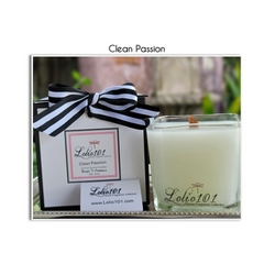 Clean Passion luxury scented candle 12oz/340g