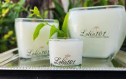 Lolio101 3 sizes 24oz Grande 12oz Regular and 2.5oz Petite Bougie