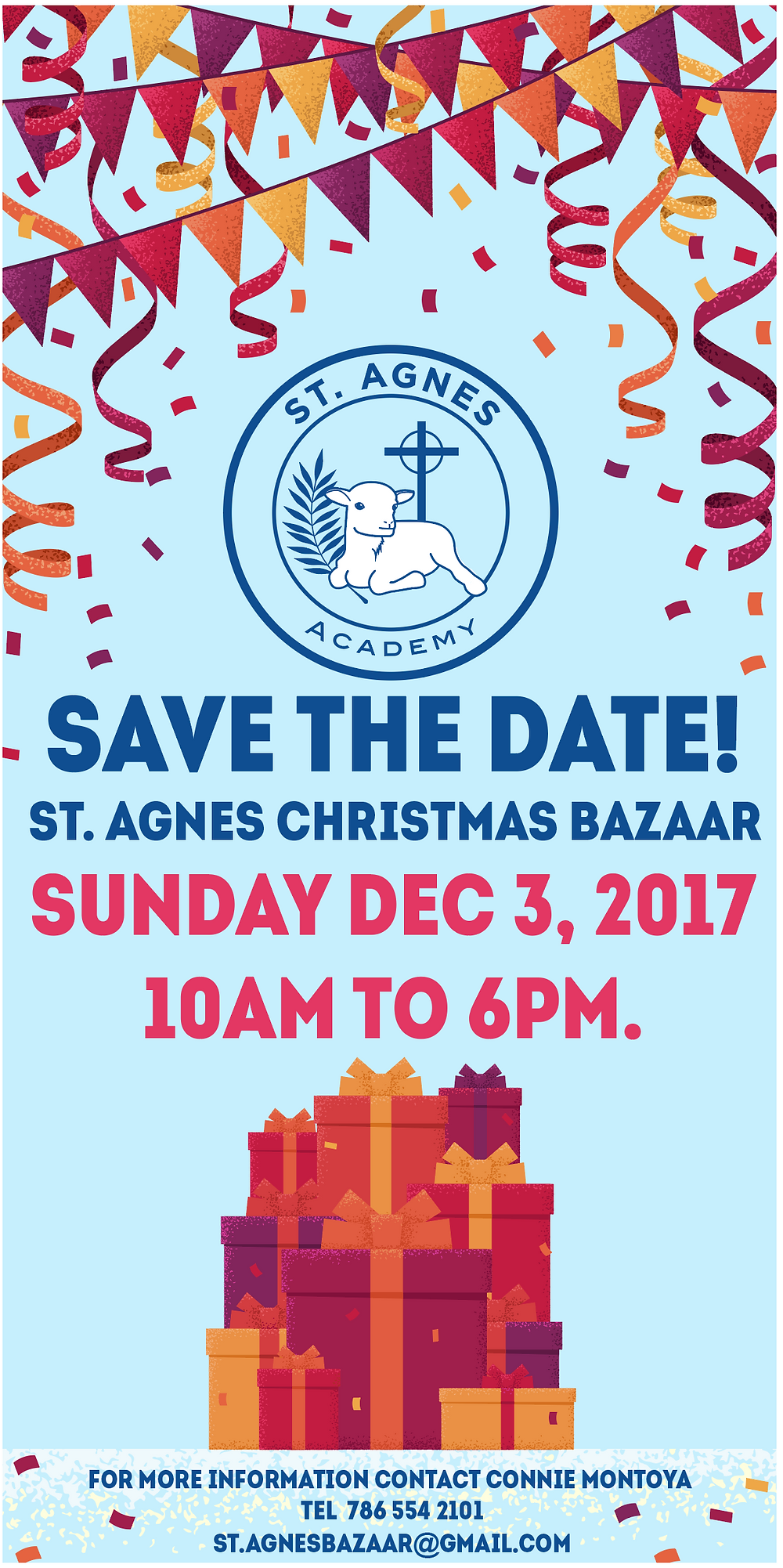 St. Agnes Christmas Bazaar happening this weekend in #KeyBiscayne. Don't miss it!!!