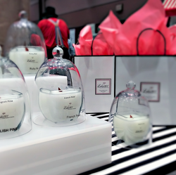 Lolio101 glass domes cloches shopping bags luxury fragrance candles velas candelas dragonfly #HomeFr