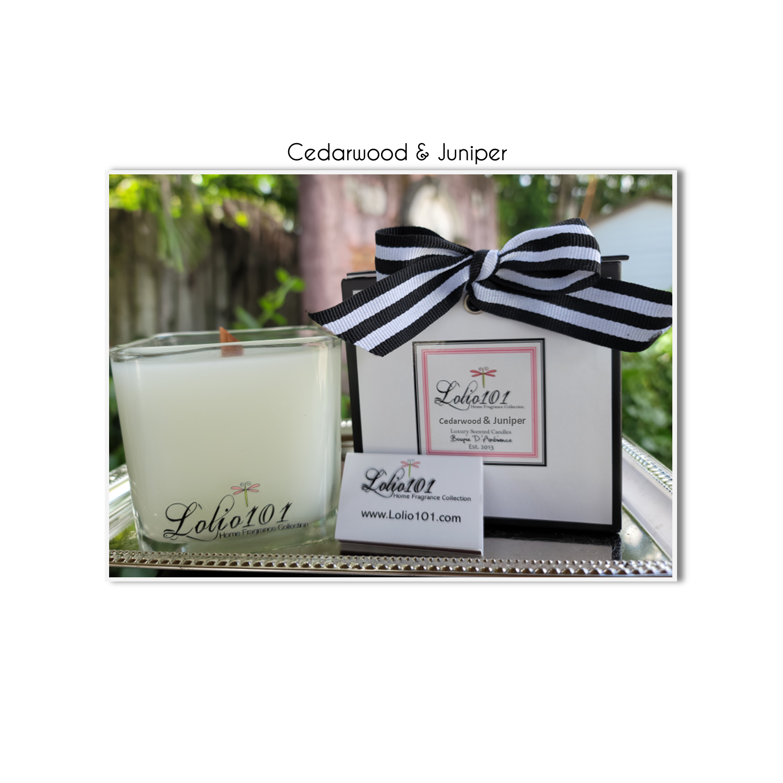Cedarwood & Juniper luxury scented candle 12oz/340g
