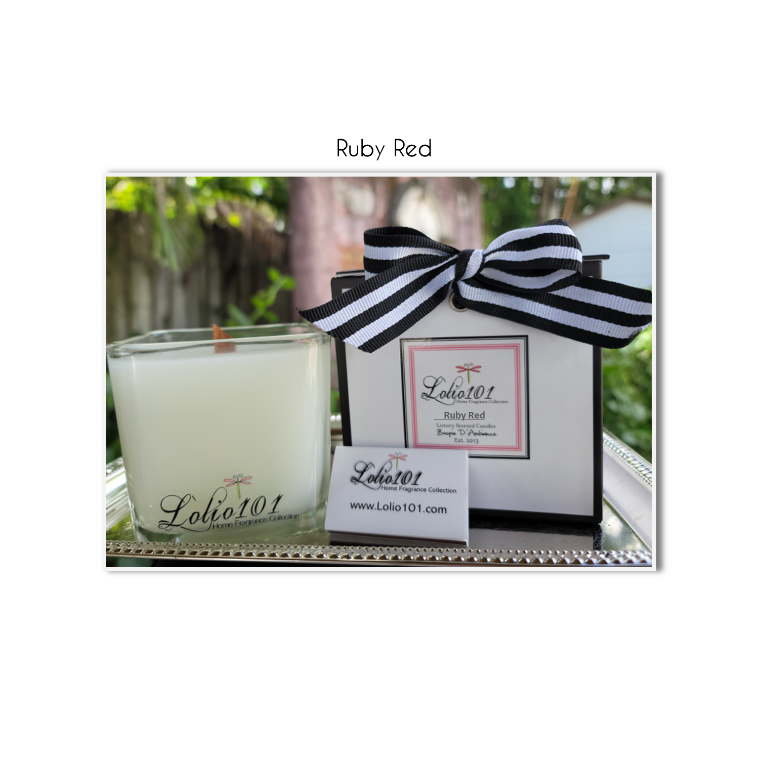 Ruby Red luxury scented candle 12oz/340g