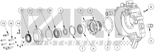 Left Side Case & Stationary Gear