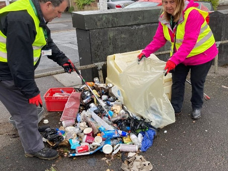Councillors and residents tidy Elm Park