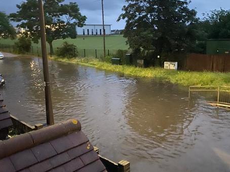 Flooding In Abbs Cross Lane