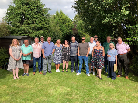 H.R.A Team Members enjoyed the sunshine and company of residents at their first social event