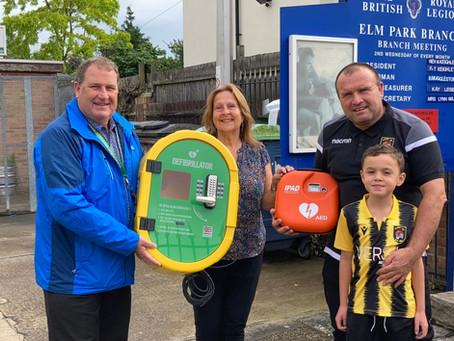 Not one but 2 defibrillators for Elm Park