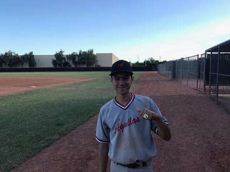16U winning pitcher