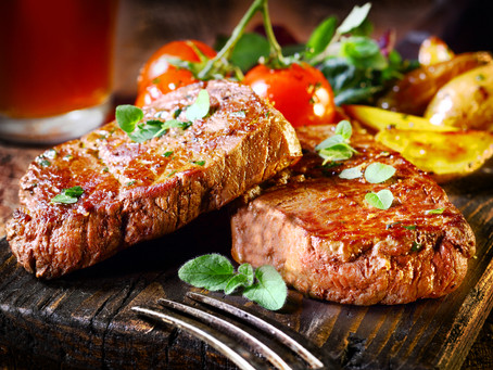 GRILLED TENDERLOIN WITH SWEET POTATOES (SERVES FOUR)