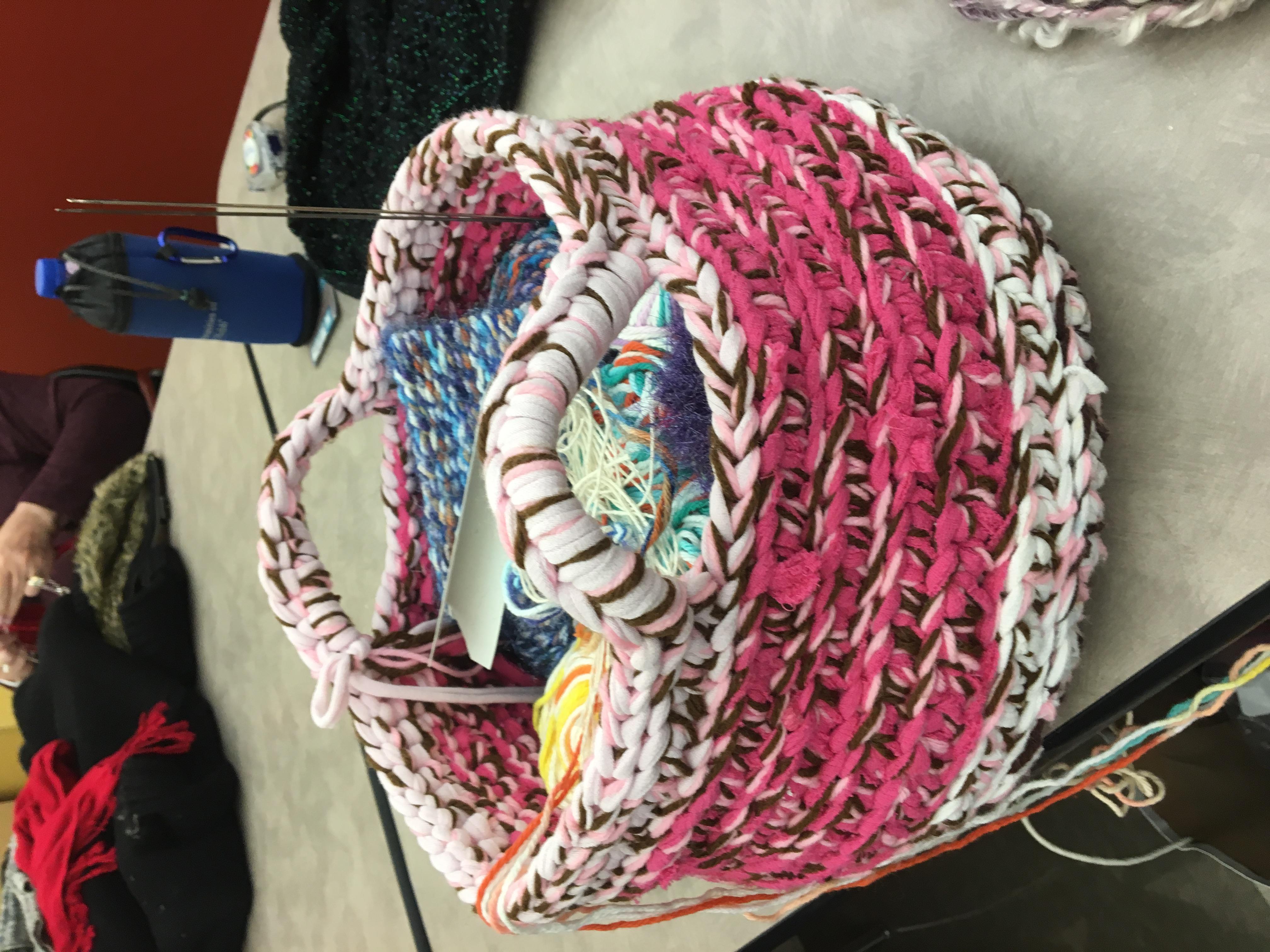 Woven Fiber Basket by Annette McKee