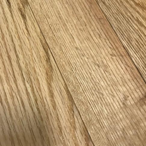 "3"" Red Oak Natural Hardwood"