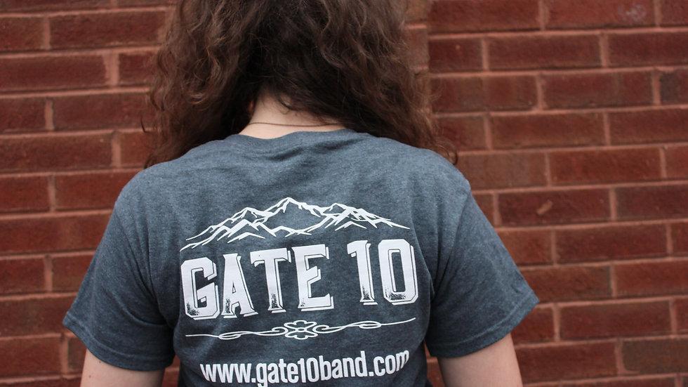 Gate 10 T-Shirt (Charcoal Gray)