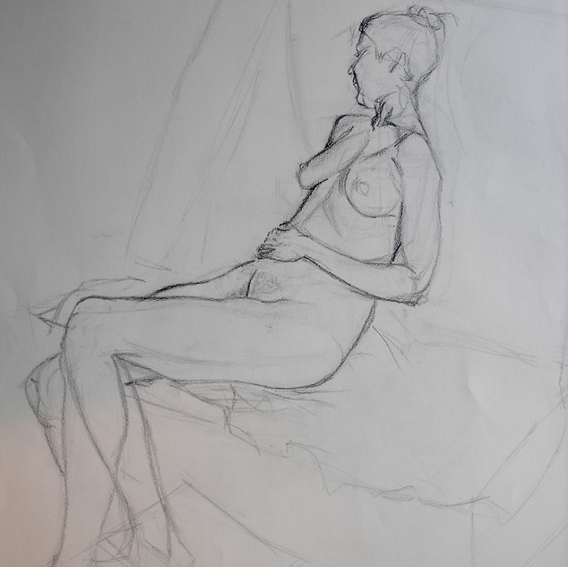 Life drawing, quick pose.