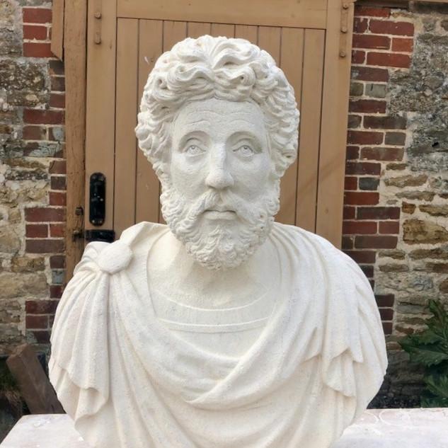 Marcus Aurelius carved in Bath stone.