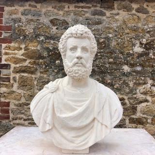 Antoninus Pius carved in Bath stone.