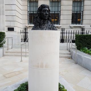Samuel Peyps Memorial garden, paving stones.