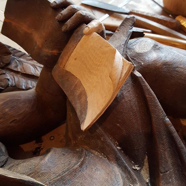 Prayer book and finger repair.