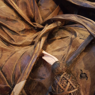 Robe, cord repair.
