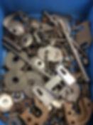 Bulk car parts and fasteners prepped prior to cadmium plating restoration