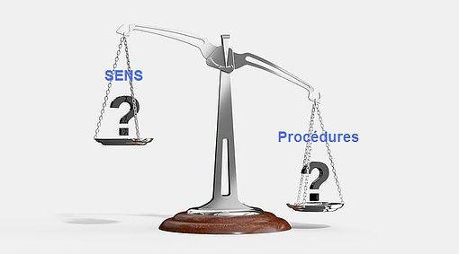sens procédures règles diretion balance justice