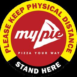 My Pie Pizza Floor Graphics StandHere