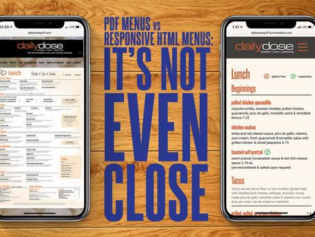 PDF Menus Are Bad For Your Restaurant