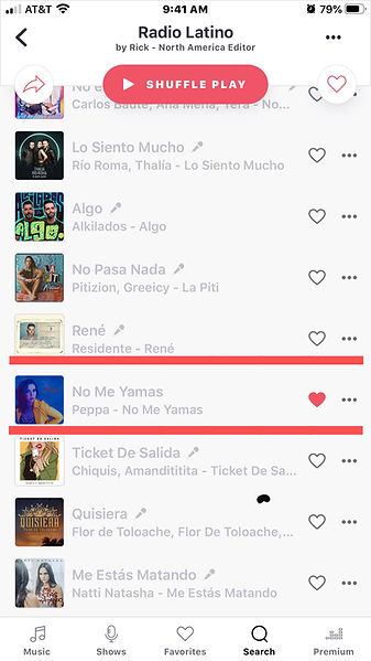 Deezer Radio Latino Playlist