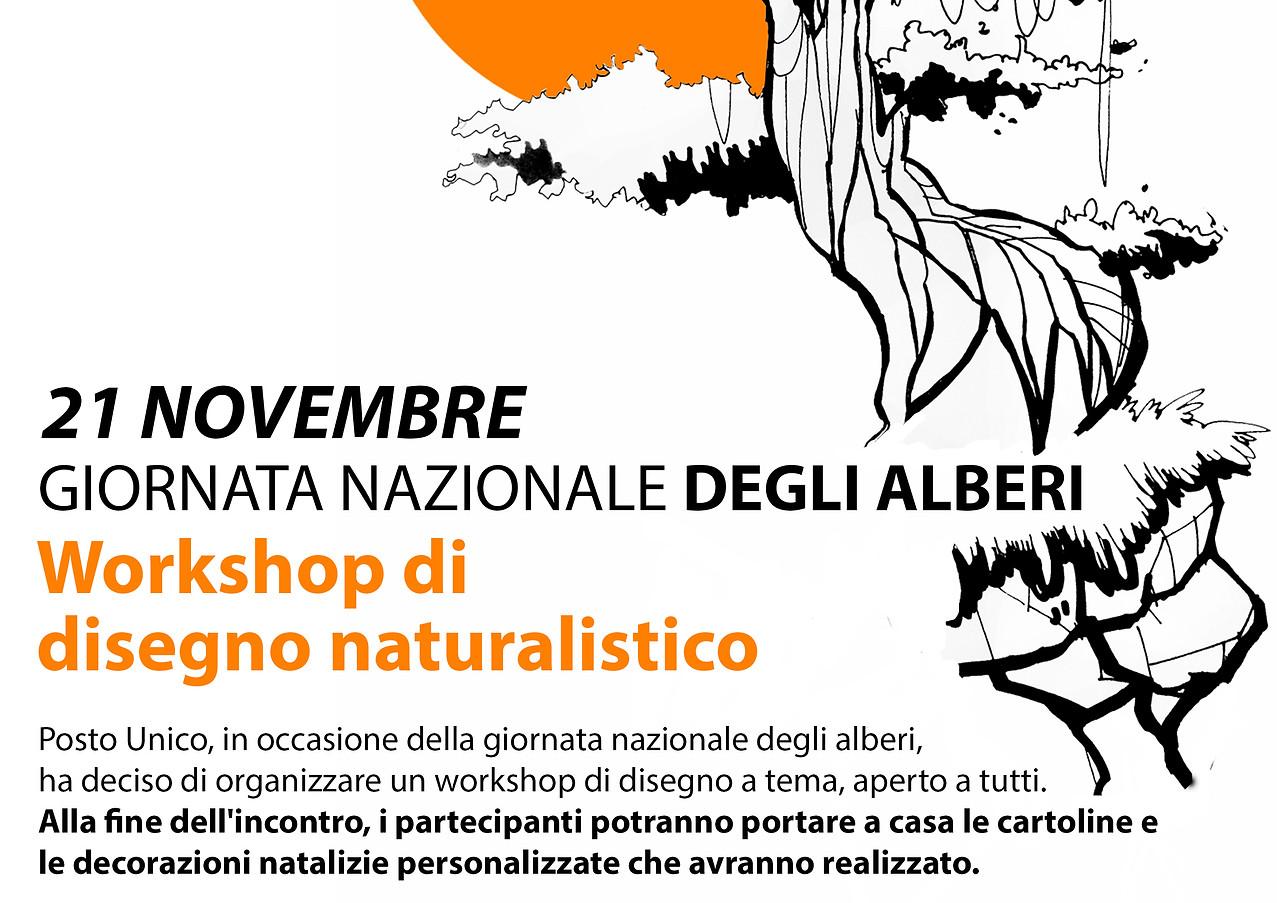 volantino workshop di disegno 21 novembr