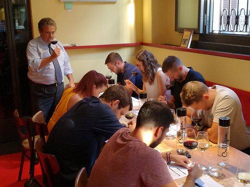 Corso di abbinamento vino-cibo con cena per una persona