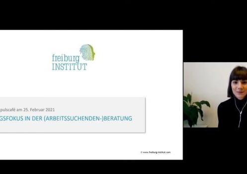 """Neues Video auf unserem YouTube-Kanal: """"Wirkungsfokus in der (Arbeitssuchenden-) Beratung"""""""