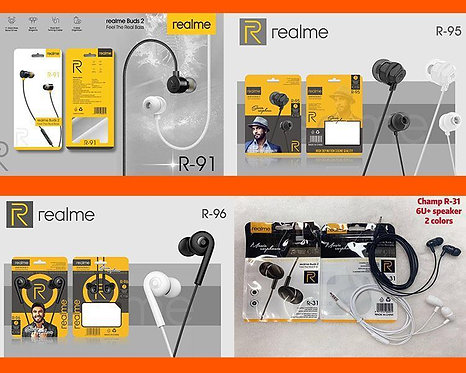 RealMe Mix Model Earphone Rs.69 with Mic