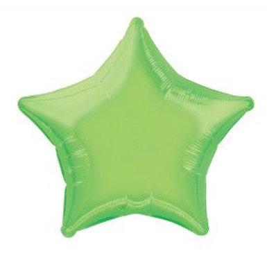 "Balloon Foil 20"" Star Lime"