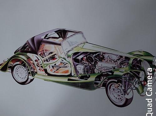 Morgan Plus 8 3.9 litre full colour cutaway drawing