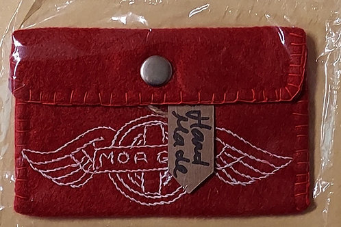 Ladies Morgan Purse/ card holder, hand made, Red
