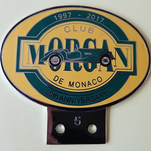Morgan Club de Monaco 20th Anniversary badge