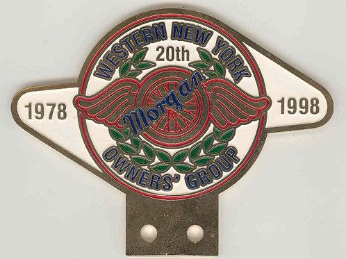 Western New York Morgan Owners Group badge, 1998