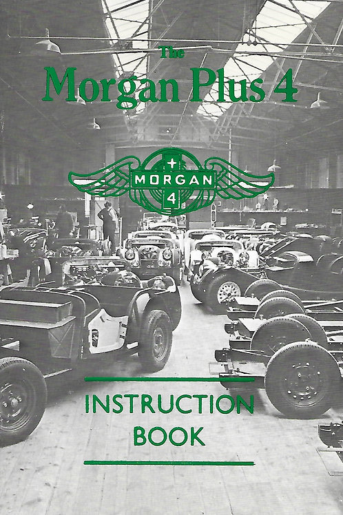 Morgan Plus 4 Instruction Book, repro