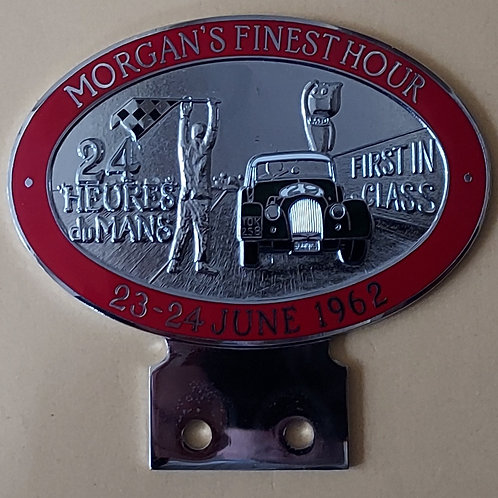 Morgan, the Finest Hour badge, red rim