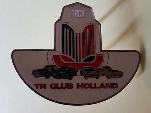 Triumph TR Club Holland car badge, previous version