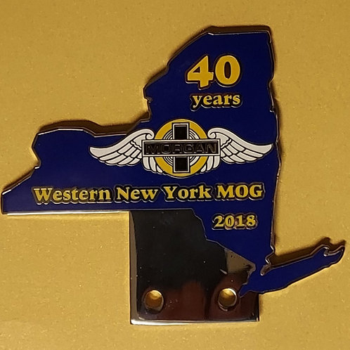 Western New York Morgan Owners Goup, 40th Anniversary badge