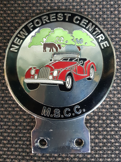 Morgan Sports Car Club, New Forest Centre, round badge