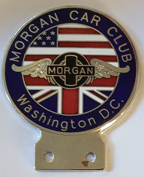Morgan Car Club Washington Dc Badge Early 1980s Morgan Badges