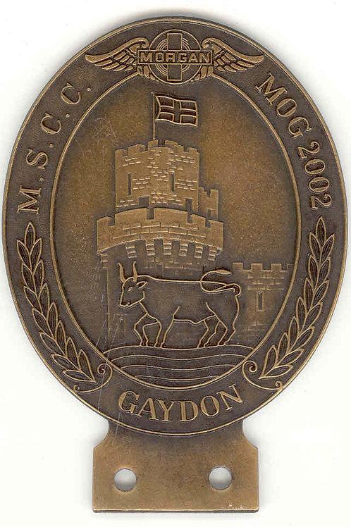 MSCC MOG 2002 GAYDON - BRASS EFFECT