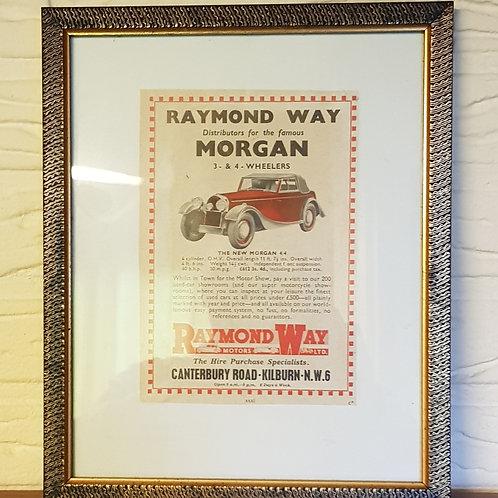 Morgan 4/4 Drophead Coupé advert, Raymond Way motors