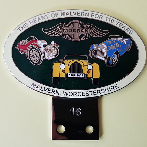Morgan 110th anniversary badge, white rim