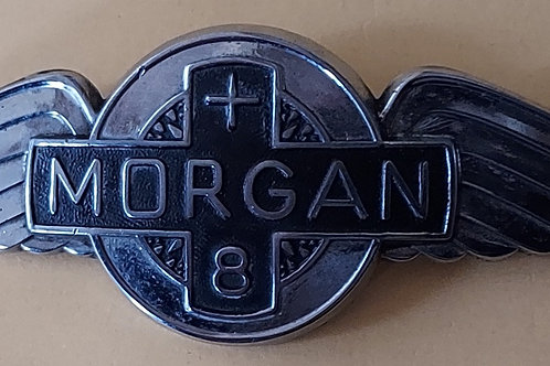Morgan Plus 8  cowl badge, used