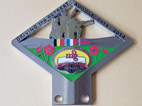 MOG Belgium, Driving the Retreat, 1914 - 2014; Belgian banner first