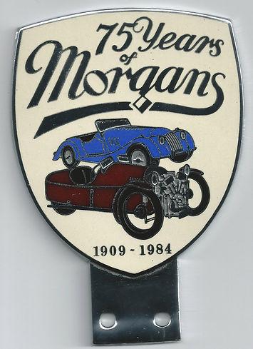 75 Years of Morgans badge