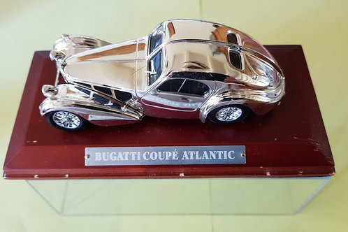 Bugatti Type 57 Atalantic scale model, silver color