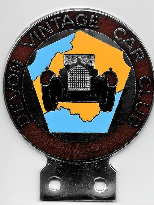 Devon Vintage Car Club car badge